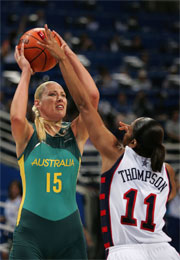 Australia's Lauren Jackson will spearhead the Opals bid for glory at Melbourne 2006.