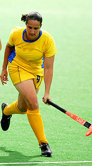 Barbados' Hockey hero Tricia-Ann Greaves scored her nation's first 2 Commonwealth Games goals.