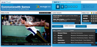Screen shot of BigPond video player.