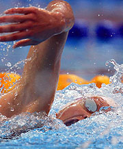 Scotland's Caitlin McClatchey added to her medal haul with gold in the 200m Freestyle.
