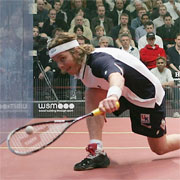 Peter Nicol of England in action at the Brit Insurance Super Series Finals in 2004.