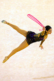 Alexandra Orlando wins every gold available in the Rhythmic Gymnastics.