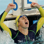 Former Australian swimming great Patria Thomas ended her illustrious Commonwealth Games career with five gold, one silver and one bronze.