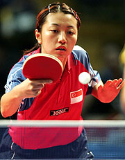 Xue Ling Zhang, now with her focus on gold.