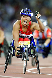Five-time Paralympic gold medallist Chantal Petitclerc.