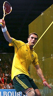 Australia's David Palmer through to the Doubles Semi Finals with partner Dan Jenson.