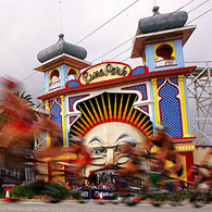 The Triathlon passes Luna Park